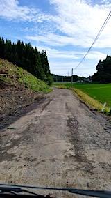 20180630山へ向かう途中の様子杉伐採現場鉄板撤去