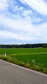 20180709山へ向かう途中の様子田んぼと空
