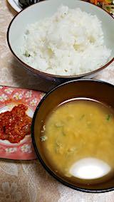 20180719晩ご飯玉子とじのみそ汁