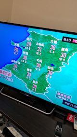 20180720NHKテレビ秋田県内の今日の最高気温の予報