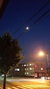 20180720外の様子夜のはじめ頃お月さま