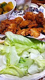 20180813晩ご飯鶏の唐揚げ