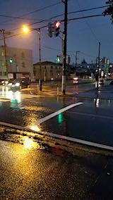20180907外の様子夕方本格的な雨が降り出す