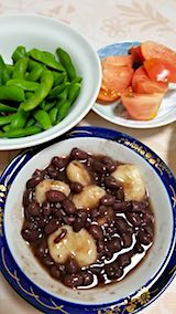 20180907晩ご飯枝豆とトマト