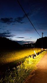 20180912山からの帰り道の様子夕方