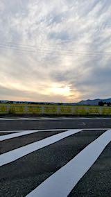 20180914大仙市の国道13号線より望む夕日