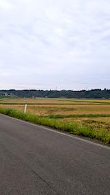 20180924山へ向かう途中の様子田んぼと空