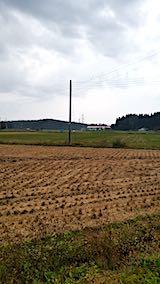 20181010山からの帰り道の様子稲刈りを終了した田んぼ