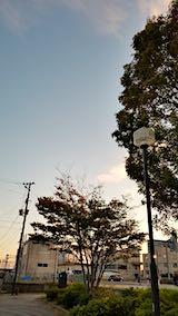 20181013速歩途中の高台から望んだ南西の空