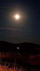 20181022山からの帰り道の様子お月さま