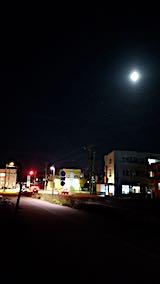 20181022速歩からの帰り道の様子お月さま