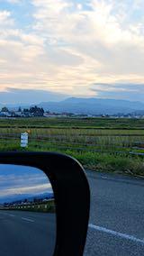 20181104坂下町から望んだ明神ケ岳と飯豊連峰