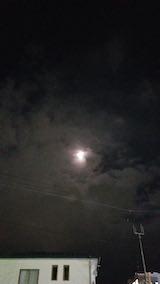 20181116速歩途中の公園から望んだ南の空の様子お月さま