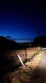 20181205山からの帰り道の様子田んぼと空