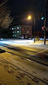 20181213外の様子夜のはじめ頃再び雪が降る