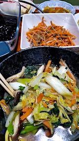 20190102晩ご飯野菜炒め