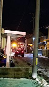 20190106外の様子夜遅く除雪車出動2