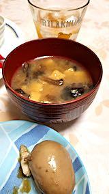 20190107晩ご飯キノコと厚揚げ豆富のみそ汁