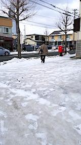 20190109外の様子昼前テカテカ道路2