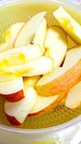 20190109デザート皮付きリンゴ