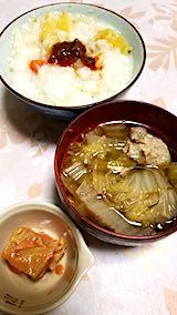 20190111晩ご飯肉団子スープ