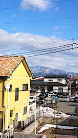 20190112速歩途中のコミセン体育館内から望んだ太平山