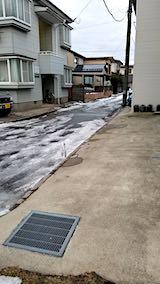 20190112雪解けが進んだ歩道や道路2