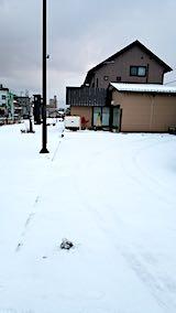 20190118向かいの駐車場の雪寄せ前