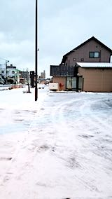 20190118向かいの駐車場の雪寄せ後
