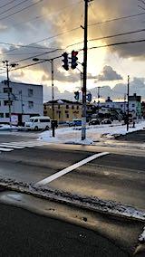 20190119外の様子夕方歩道2