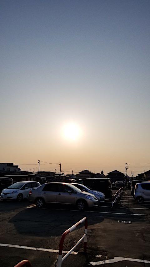 20190305駐車場から望んだ夕日