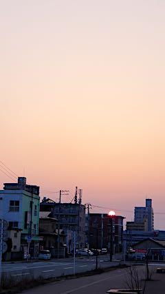 20190305速歩からの帰り道で望んだ夕日