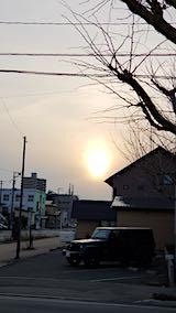 20190310外の様子夕方夕日