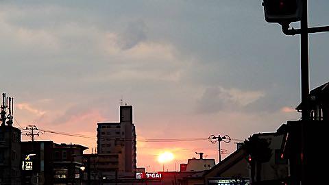 20190314外の様子夕方夕日3