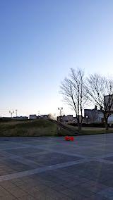 20190318速歩へ向かった公園と南西の空