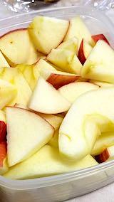 20190403お昼ご飯のデザート皮付きリンゴ