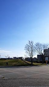 20190407速歩へ向かった公園と南西の空