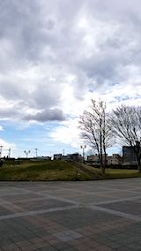 20190411速歩へ向かった公園と南西の空