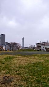 20190415速歩途中の公園と北東の空