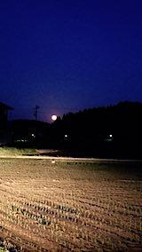 20190519山からの換え入り道の様子田んぼと空満月さま