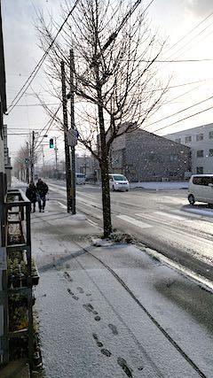 20191129外の様子昼過ぎ積雪3