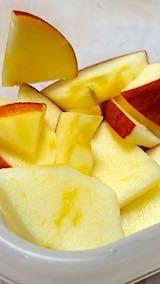20200105デザート皮付きリンゴ