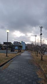 20200131速歩途中の公園内と東の空