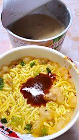 202001316お昼ご飯カップラーメンとスープ