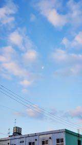 20200214速歩へ向かう途中の南西の空お月さま