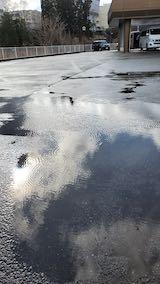 20200219外の様子昼前雨水に風波