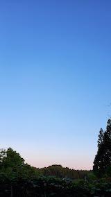 20200529外の様子夕方山