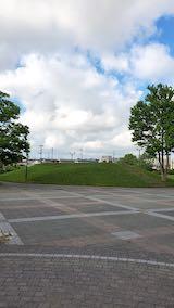 20200620速歩へ向かった公園内と南西の空