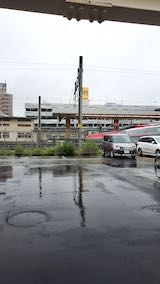 20200705速歩途中JR秋田駅東口へ向かう通路から望んだ西の空