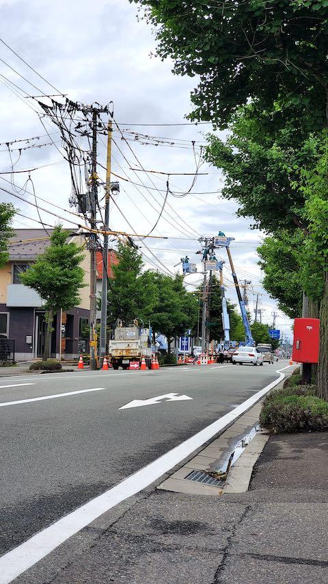 20200707東大通り電気工事